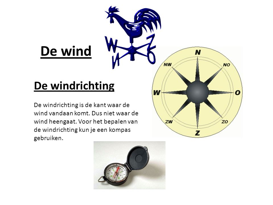 De wind De windrichting