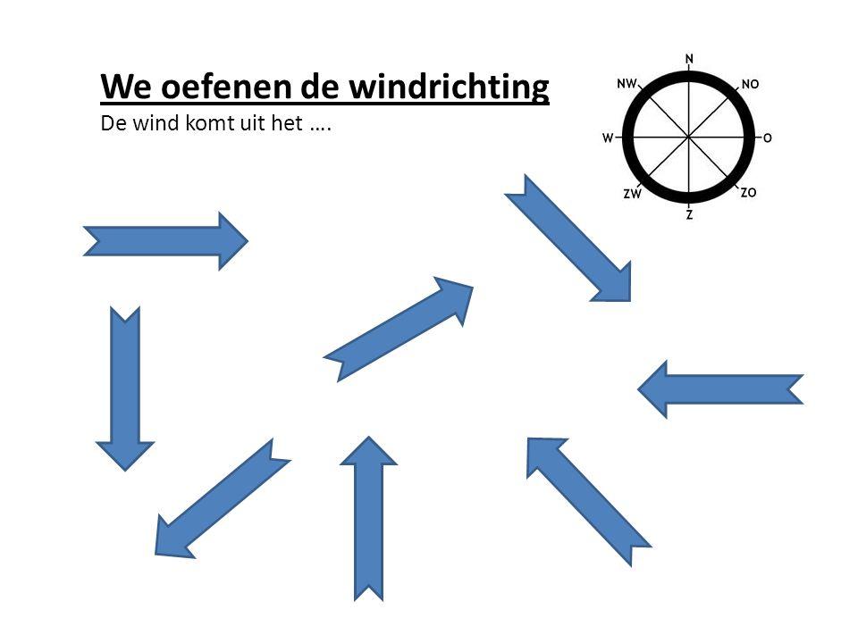We oefenen de windrichting