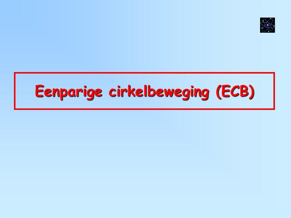 Eenparige cirkelbeweging (ECB)