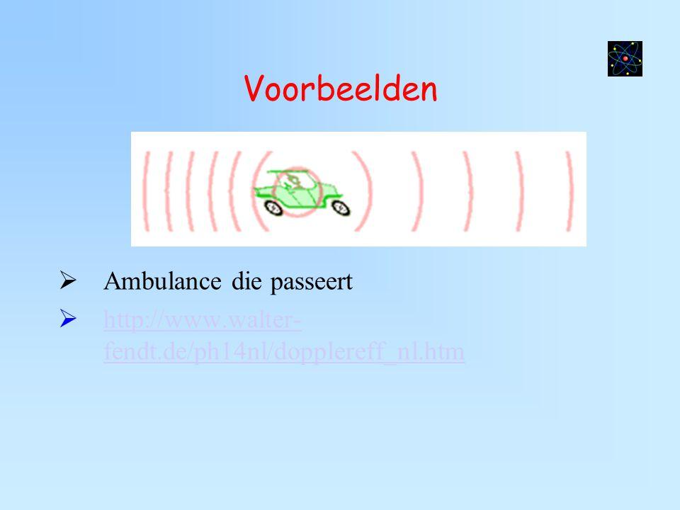 Voorbeelden Ambulance die passeert