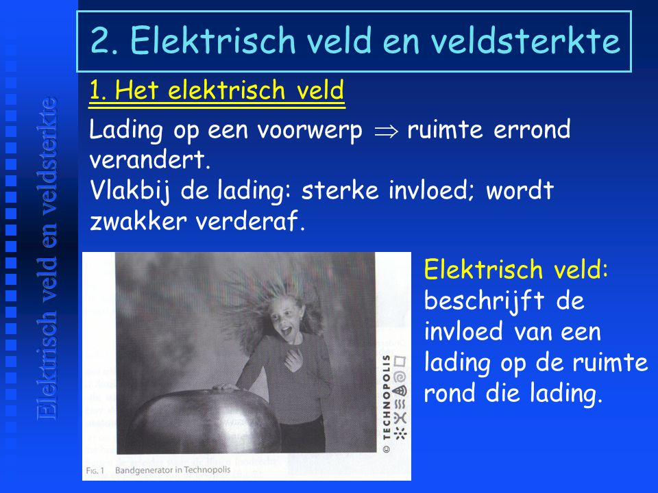 2. Elektrisch veld en veldsterkte