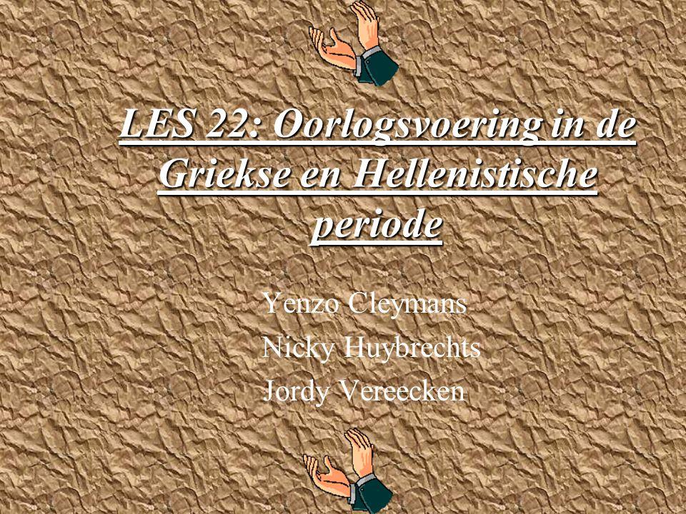 LES 22: Oorlogsvoering in de Griekse en Hellenistische periode