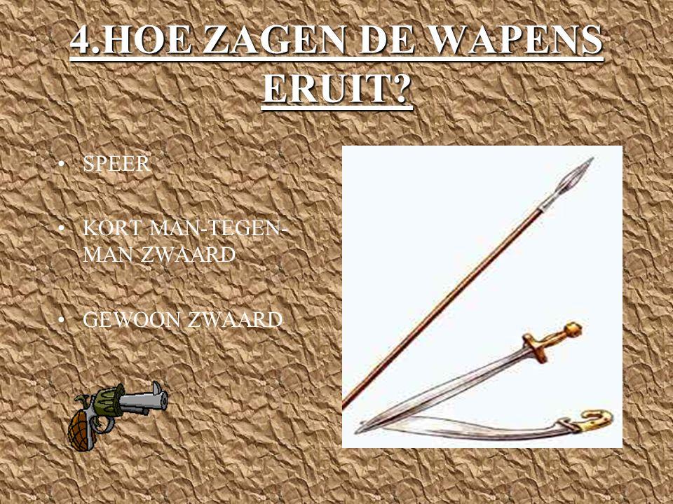 4.HOE ZAGEN DE WAPENS ERUIT