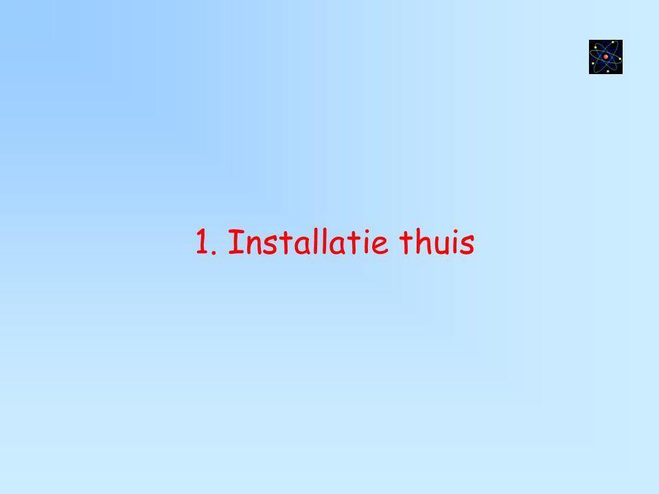 1. Installatie thuis