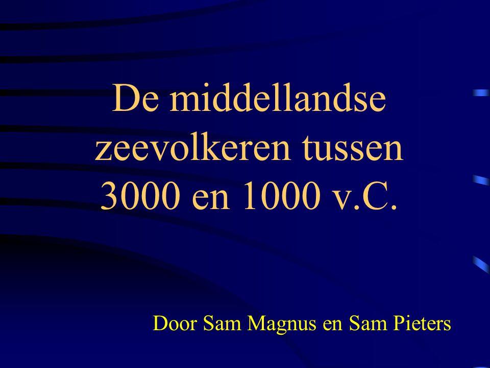 De middellandse zeevolkeren tussen 3000 en 1000 v.C.