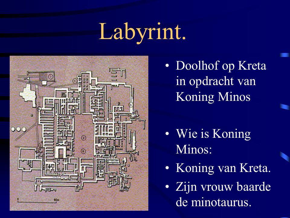 Labyrint. Doolhof op Kreta in opdracht van Koning Minos