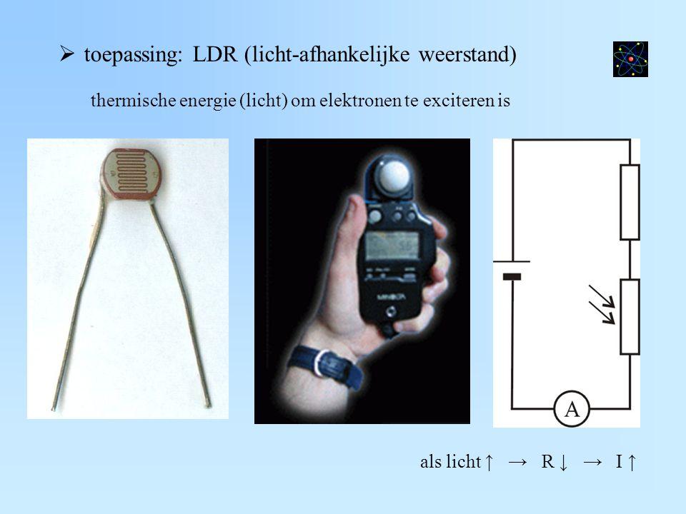 toepassing: LDR (licht-afhankelijke weerstand)