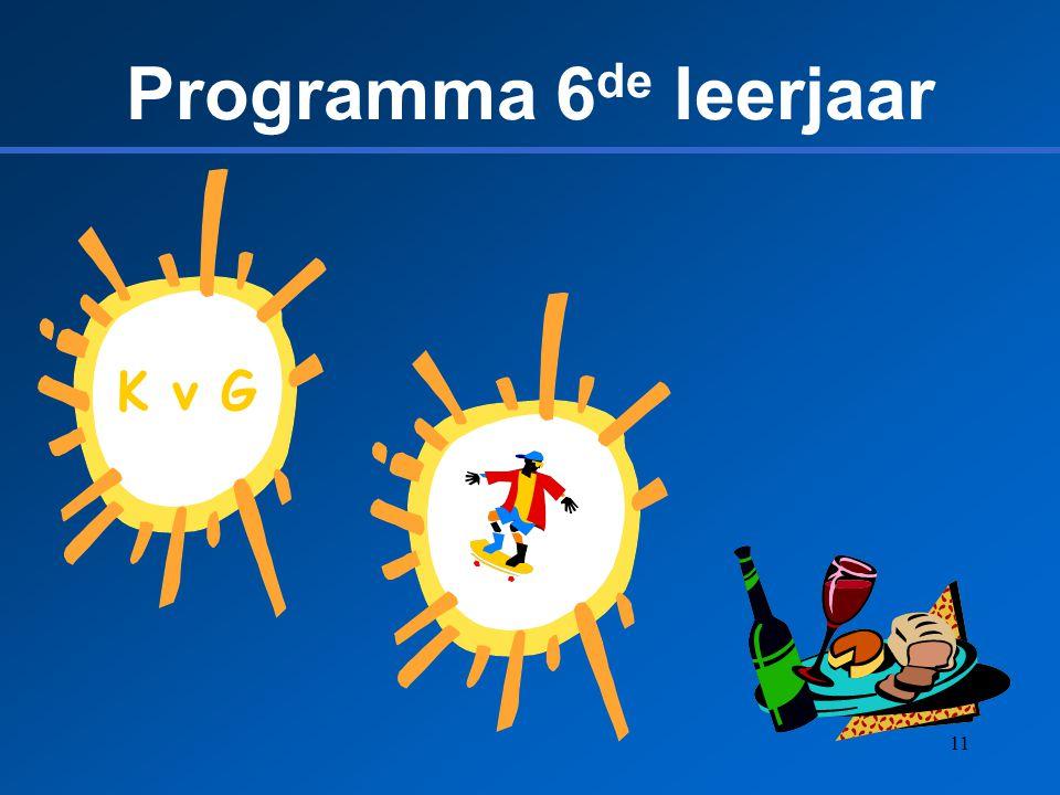 Programma 6de leerjaar K v G