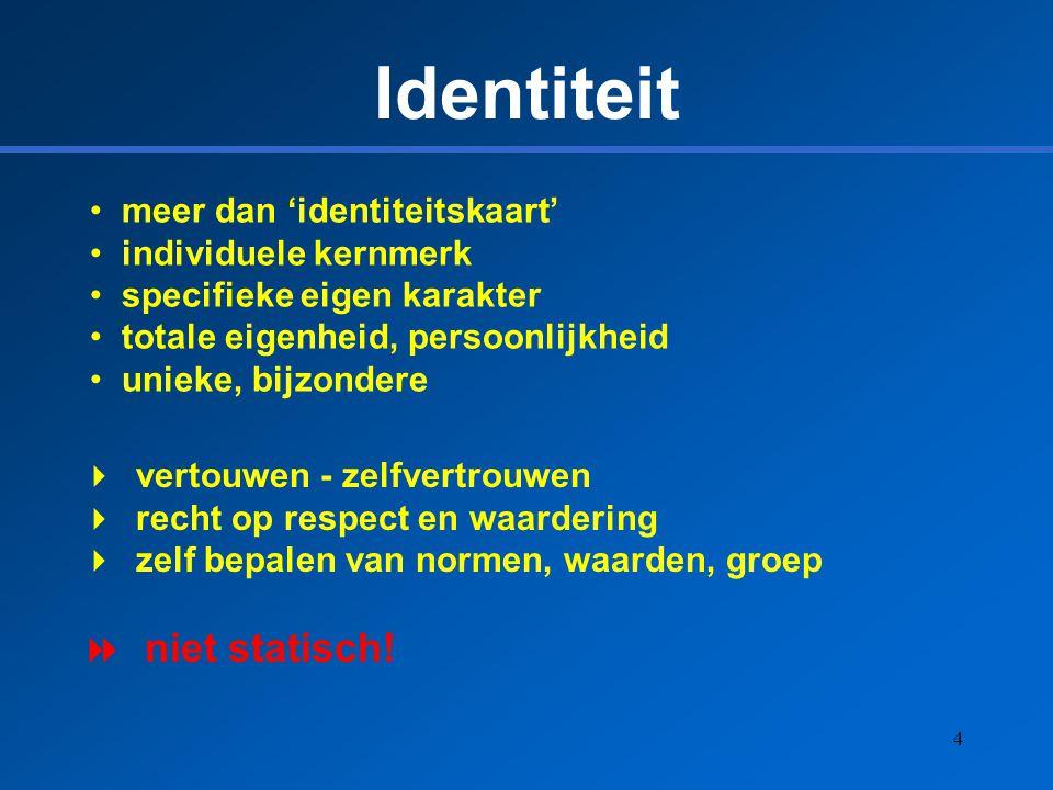Identiteit niet statisch! meer dan 'identiteitskaart'