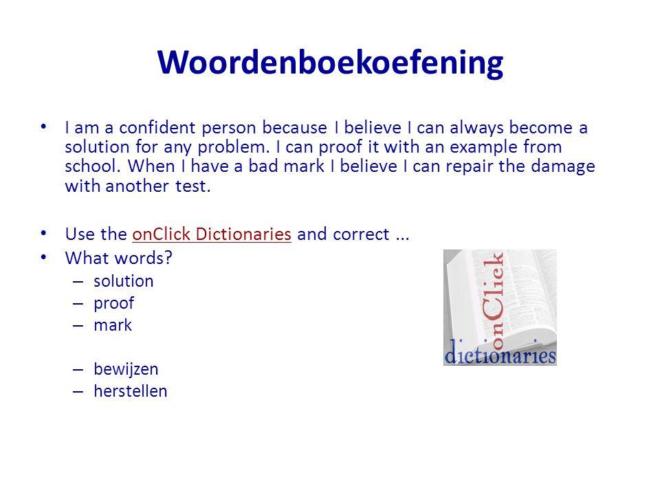 Woordenboekoefening