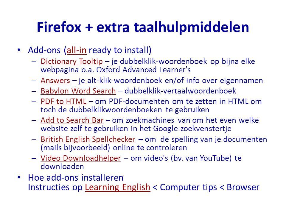 Firefox + extra taalhulpmiddelen