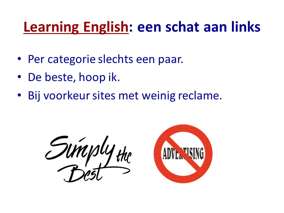 Learning English: een schat aan links
