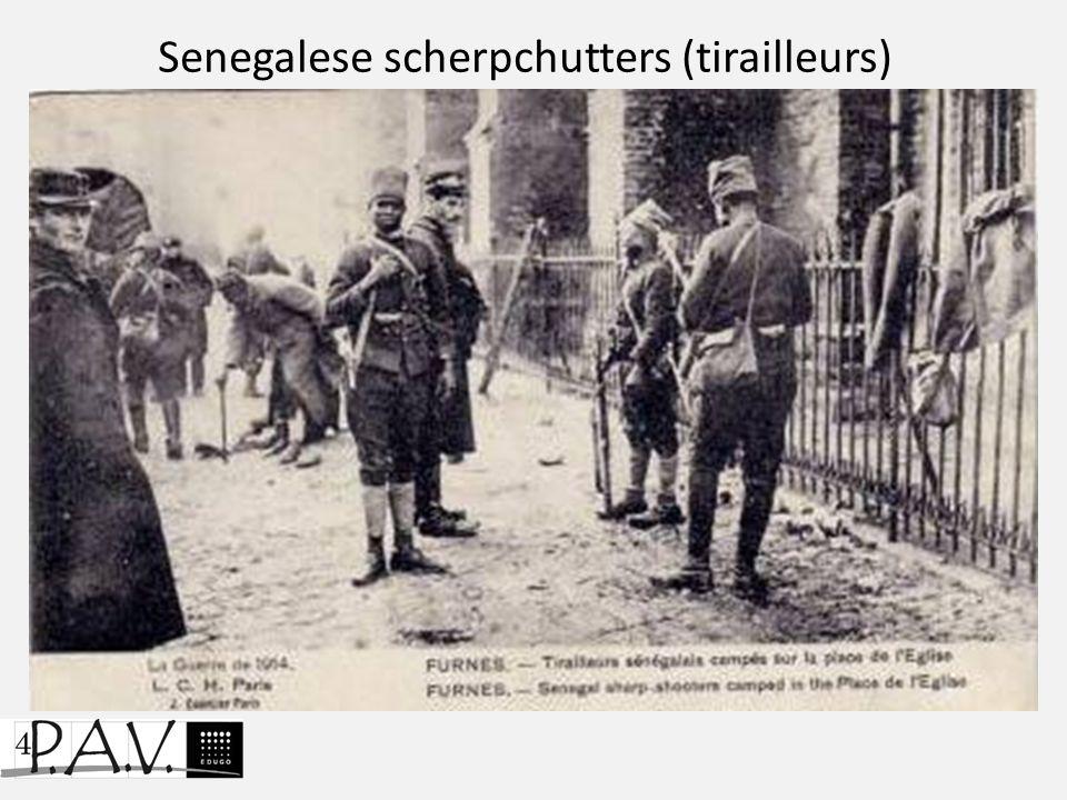 Senegalese scherpchutters (tirailleurs)
