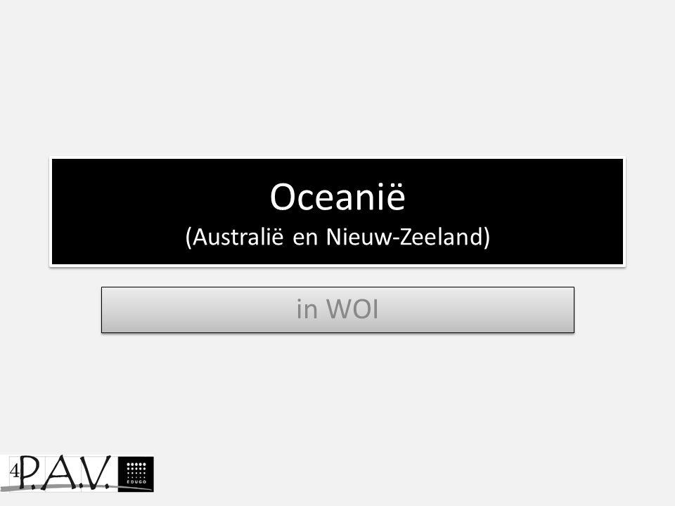 Oceanië (Australië en Nieuw-Zeeland)