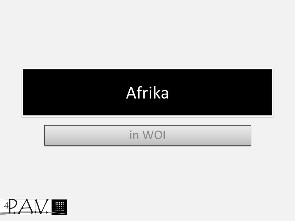 Afrika in WOI