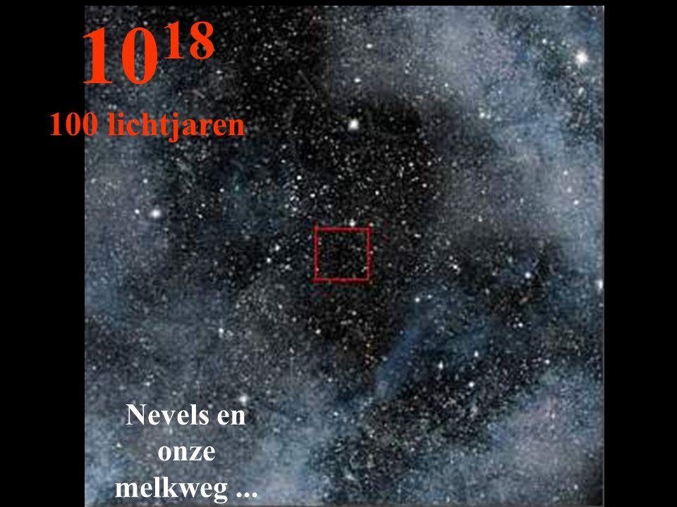1018 100 lichtjaren Nevels en onze melkweg ...
