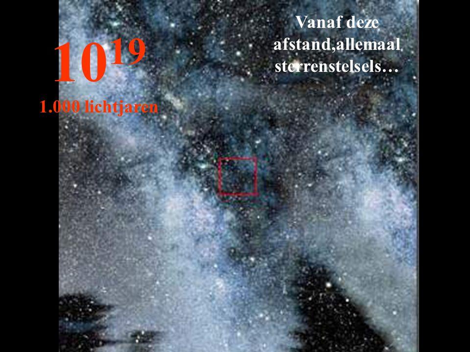 Vanaf deze afstand,allemaal sterrenstelsels…