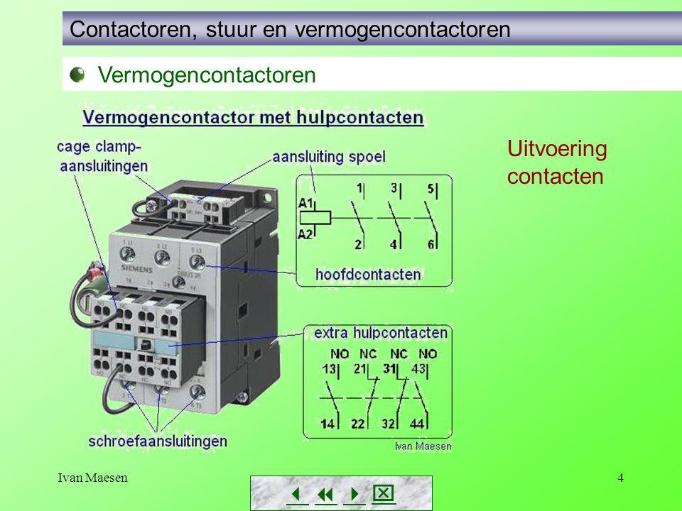 Contactoren, stuur en vermogencontactoren