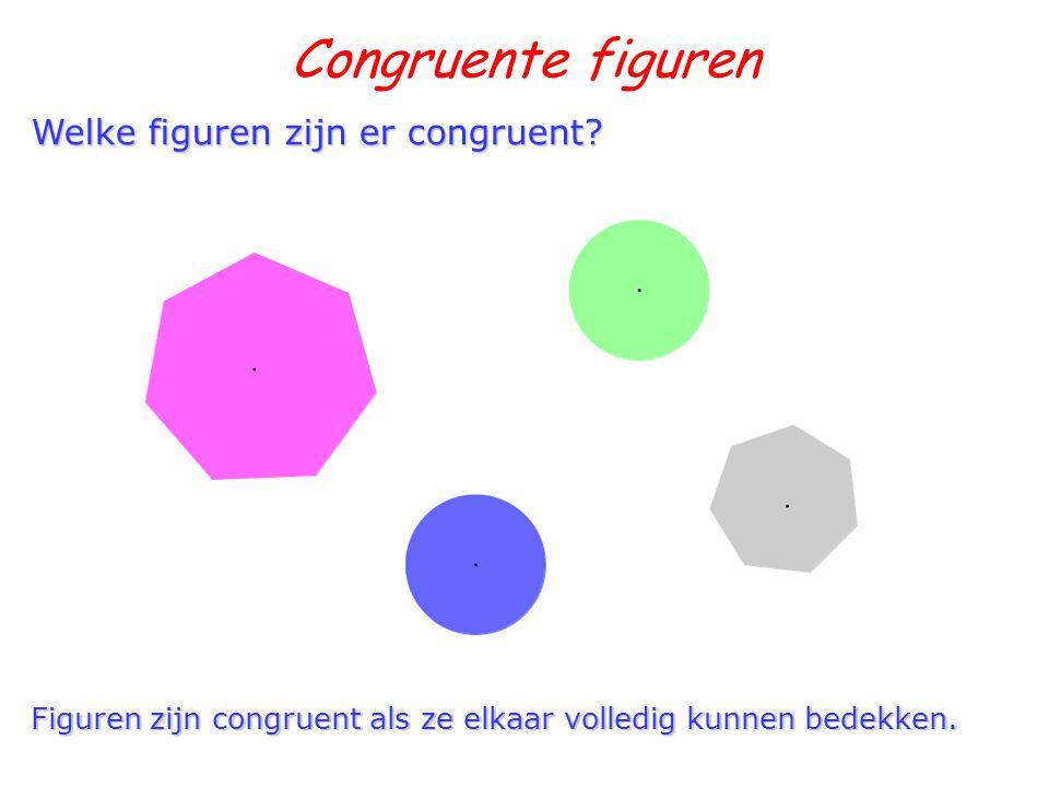 Congruente figuren Welke figuren zijn er congruent