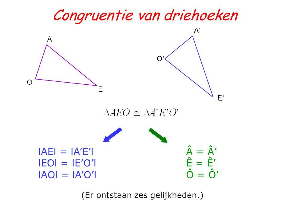 Congruentie van driehoeken