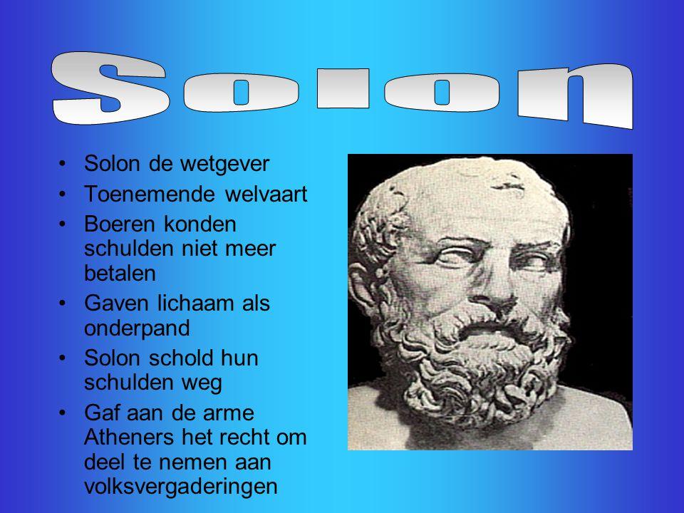 Solon Solon de wetgever Toenemende welvaart