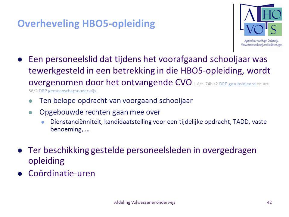 Overheveling HBO5-opleiding