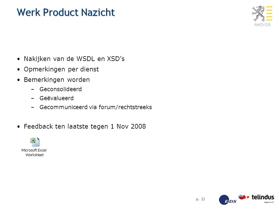 Werk Product Nazicht Nakijken van de WSDL en XSD's