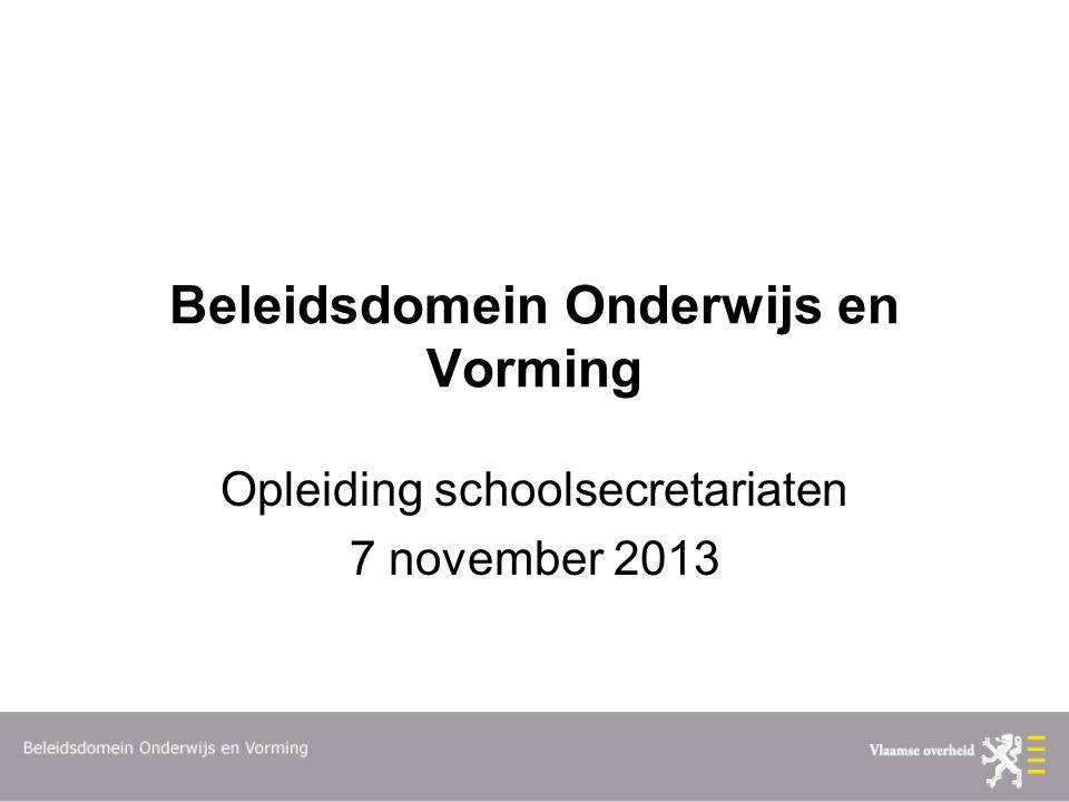 Beleidsdomein Onderwijs en Vorming