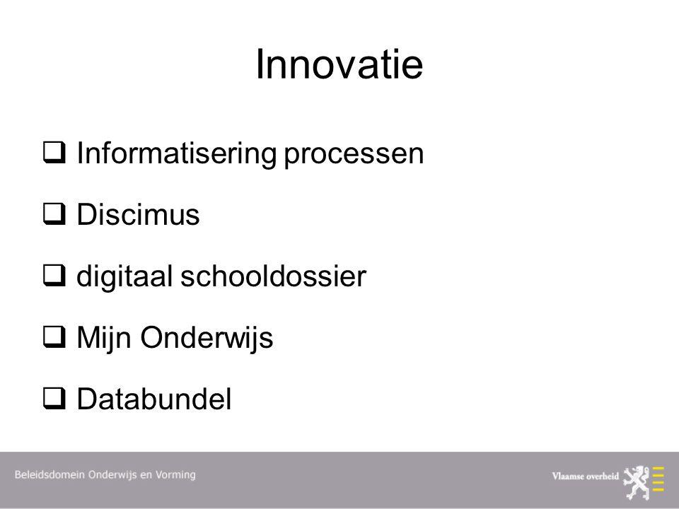 Innovatie Informatisering processen Discimus digitaal schooldossier