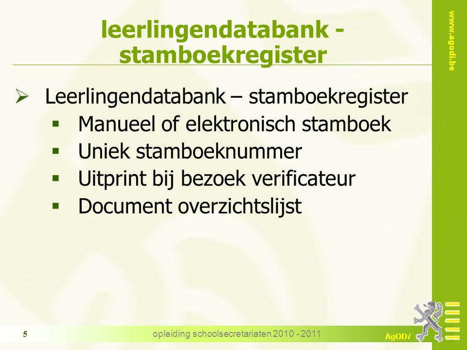 leerlingendatabank - stamboekregister