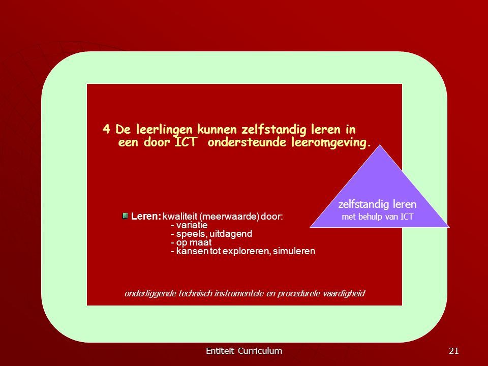 4 De leerlingen kunnen zelfstandig leren in