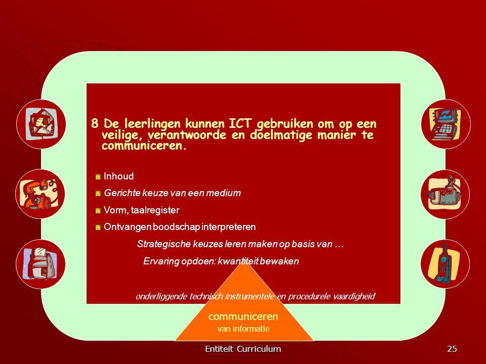 8 De leerlingen kunnen ICT gebruiken om op een