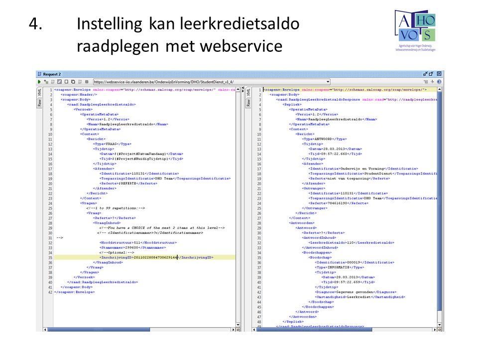 4. Instelling kan leerkredietsaldo raadplegen met webservice