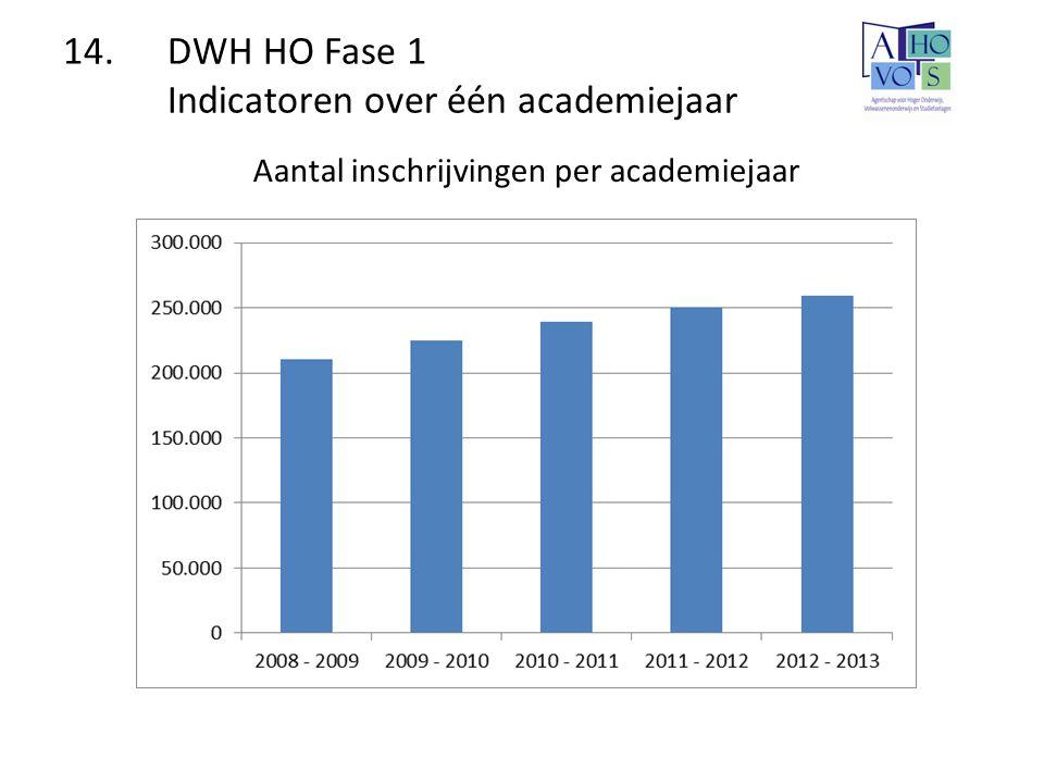 14. DWH HO Fase 1 Indicatoren over één academiejaar