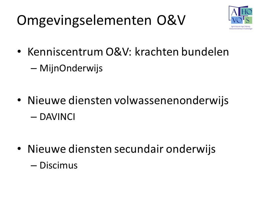 Omgevingselementen O&V