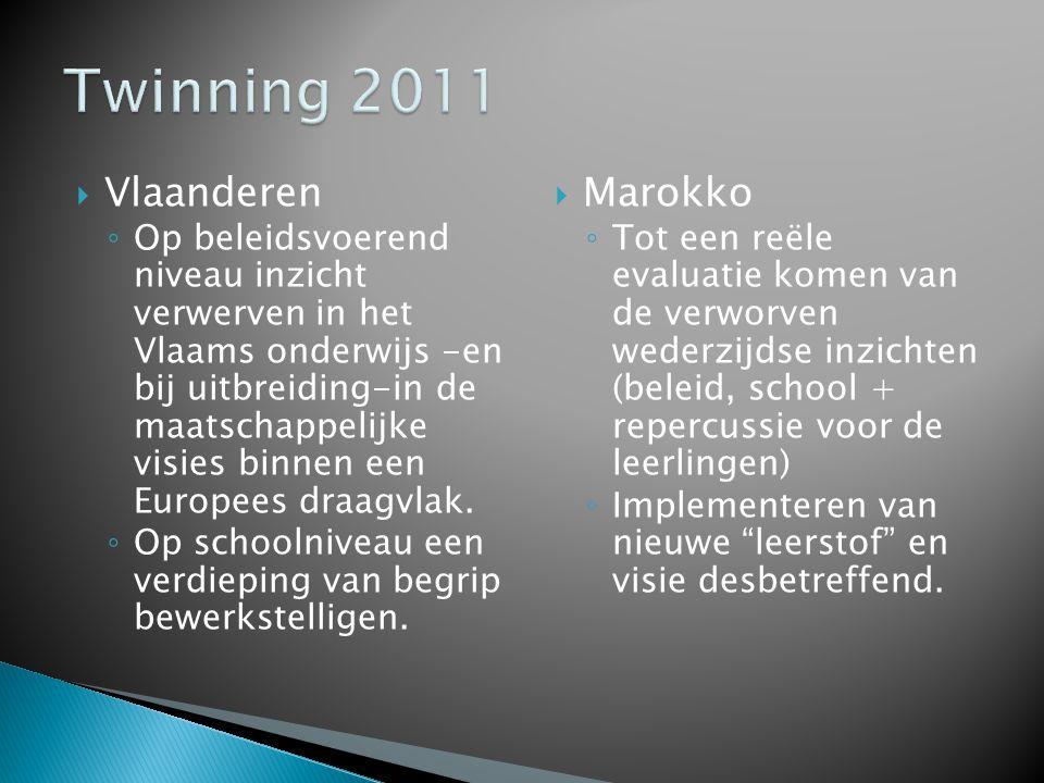 Twinning 2011 Vlaanderen Marokko