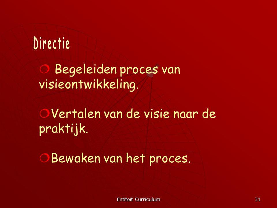 Begeleiden proces van visieontwikkeling.