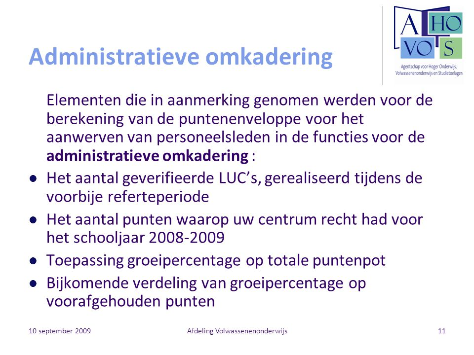 Administratieve omkadering