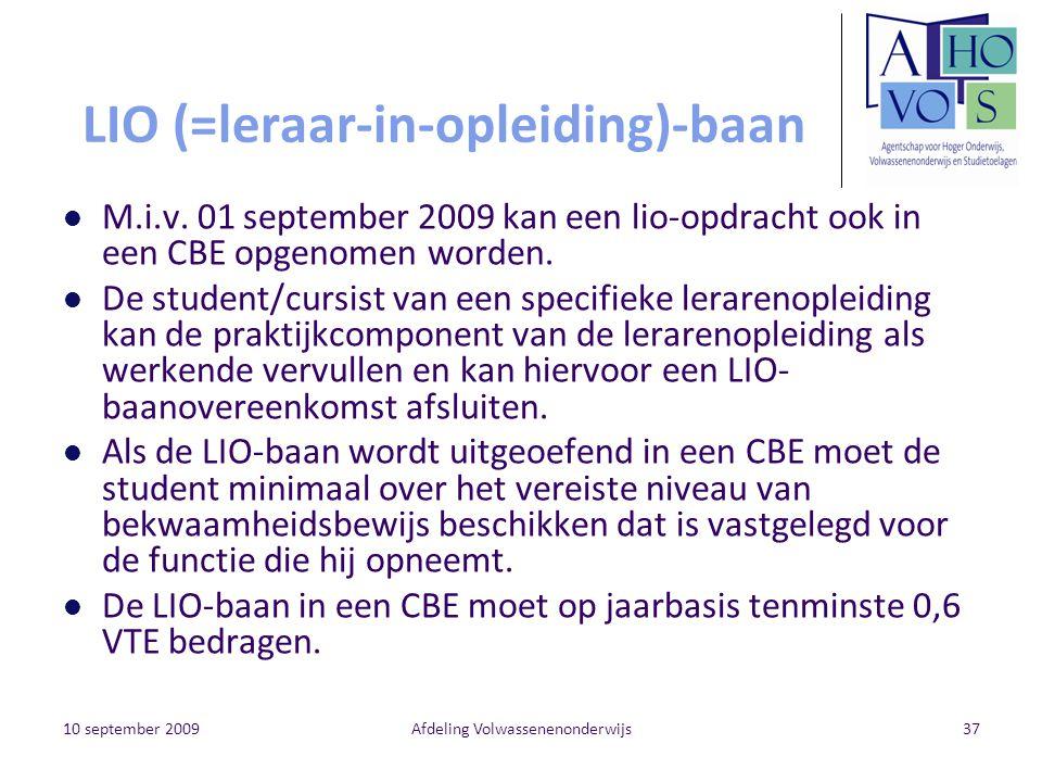 LIO (=leraar-in-opleiding)-baan