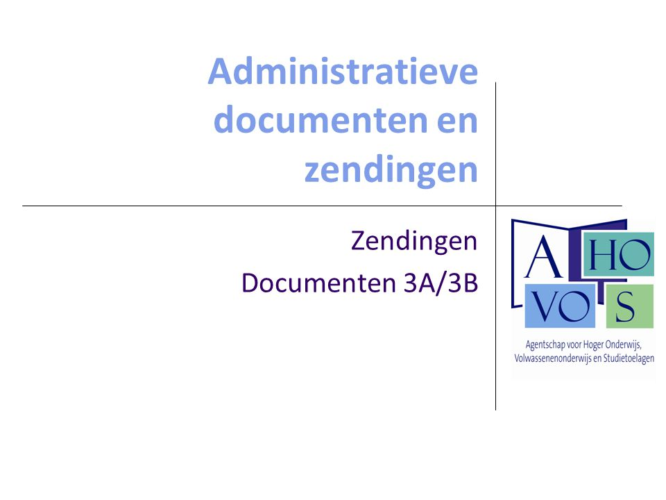 Administratieve documenten en zendingen
