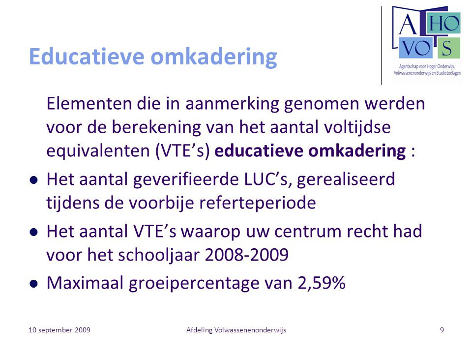 Educatieve omkadering