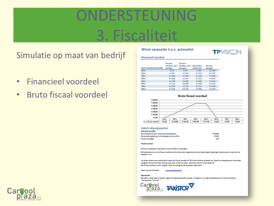ONDERSTEUNING 3. Fiscaliteit