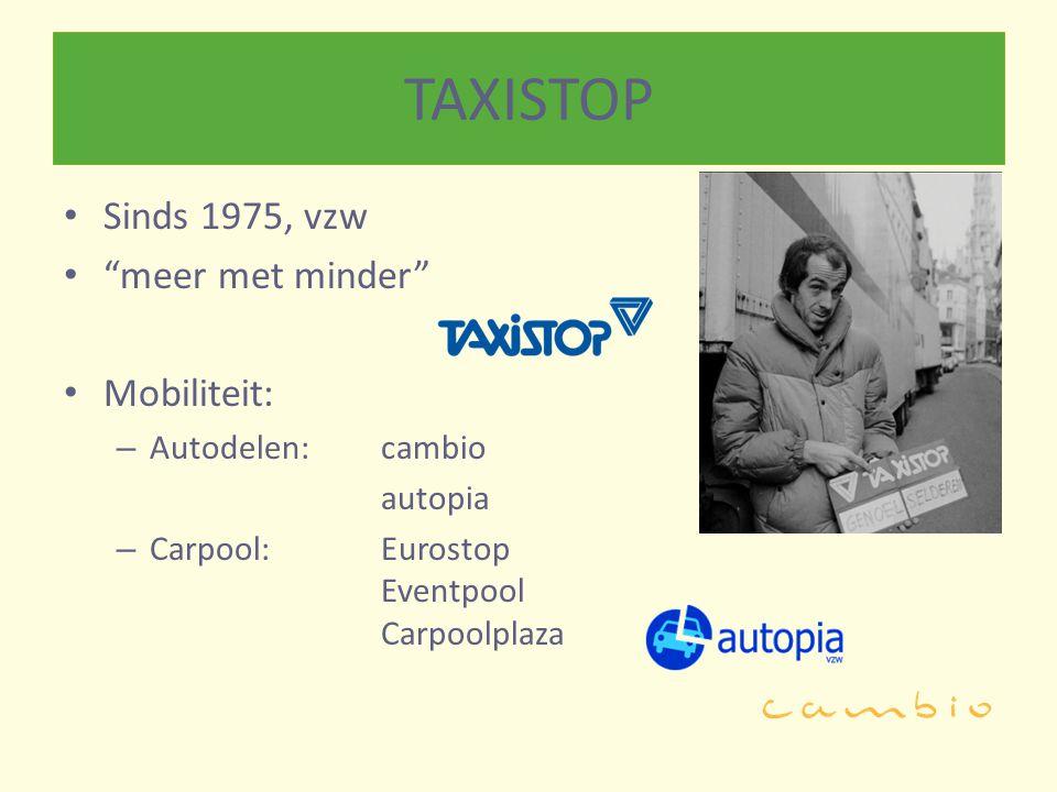 TAXISTOP Sinds 1975, vzw meer met minder Mobiliteit: