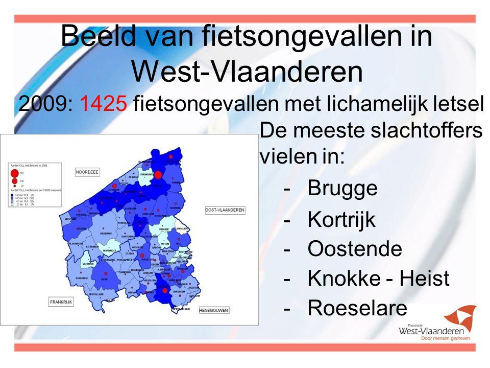 Beeld van fietsongevallen in West-Vlaanderen
