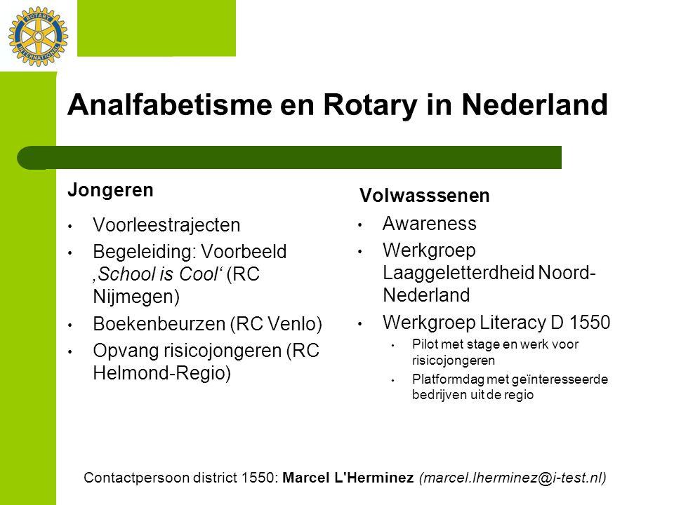 Analfabetisme en Rotary in Nederland