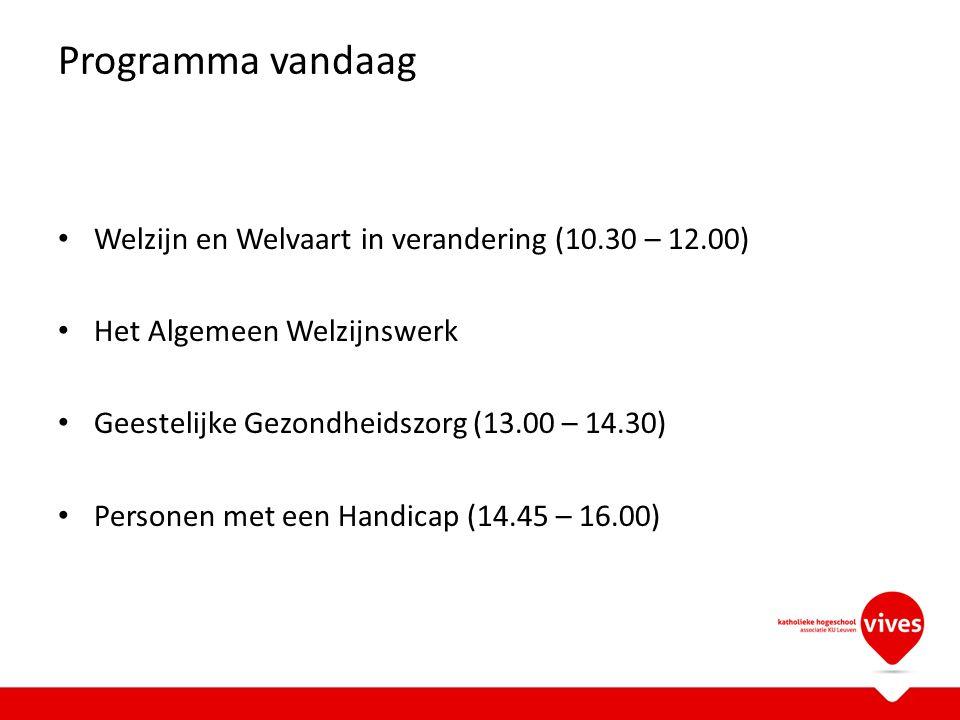 Programma vandaag Welzijn en Welvaart in verandering (10.30 – 12.00)