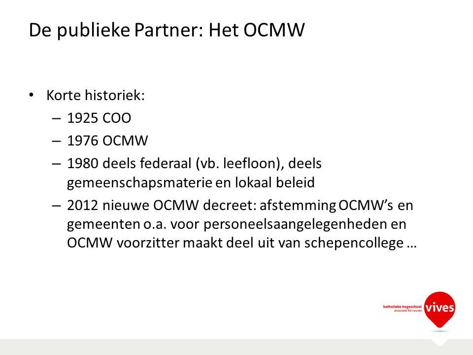 De publieke Partner: Het OCMW