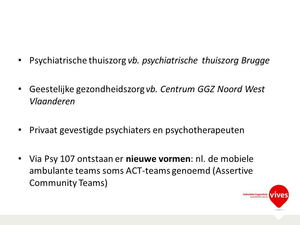 Psychiatrische thuiszorg vb. psychiatrische thuiszorg Brugge
