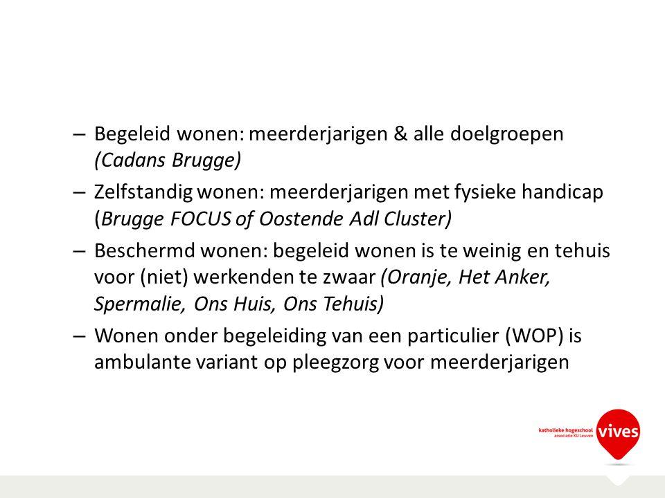 Begeleid wonen: meerderjarigen & alle doelgroepen (Cadans Brugge)