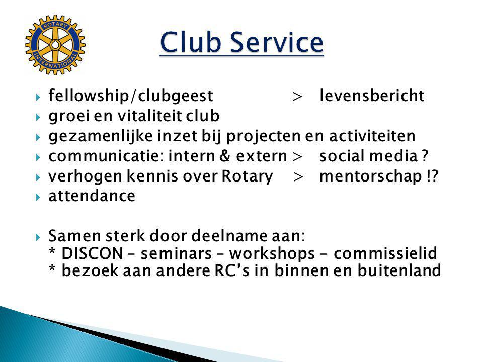 Club Service fellowship/clubgeest > levensbericht